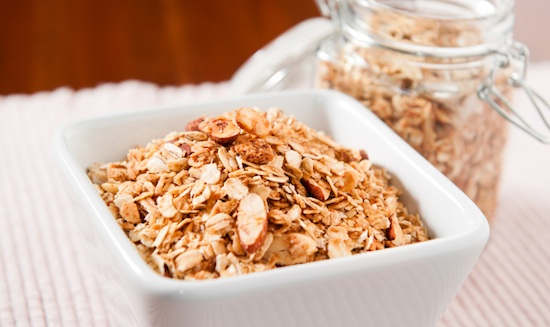 Honey Almond Granola with Shredded Coconut